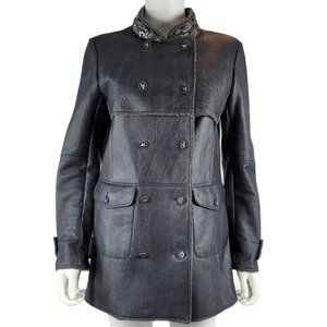 NEW Chanel Lambswool Shearling Leather Jacket/Coat